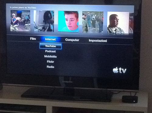 Menu Internet Apple TV