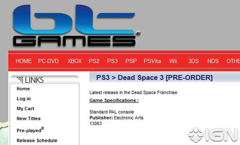 bt games preordine Dead Space 3