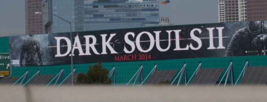 Dark Souls 2 - cartellone pubblicitario